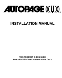 Autopage Owners And Installation Guides